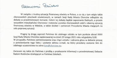 Informacja Urzędu Miasta Chorzów